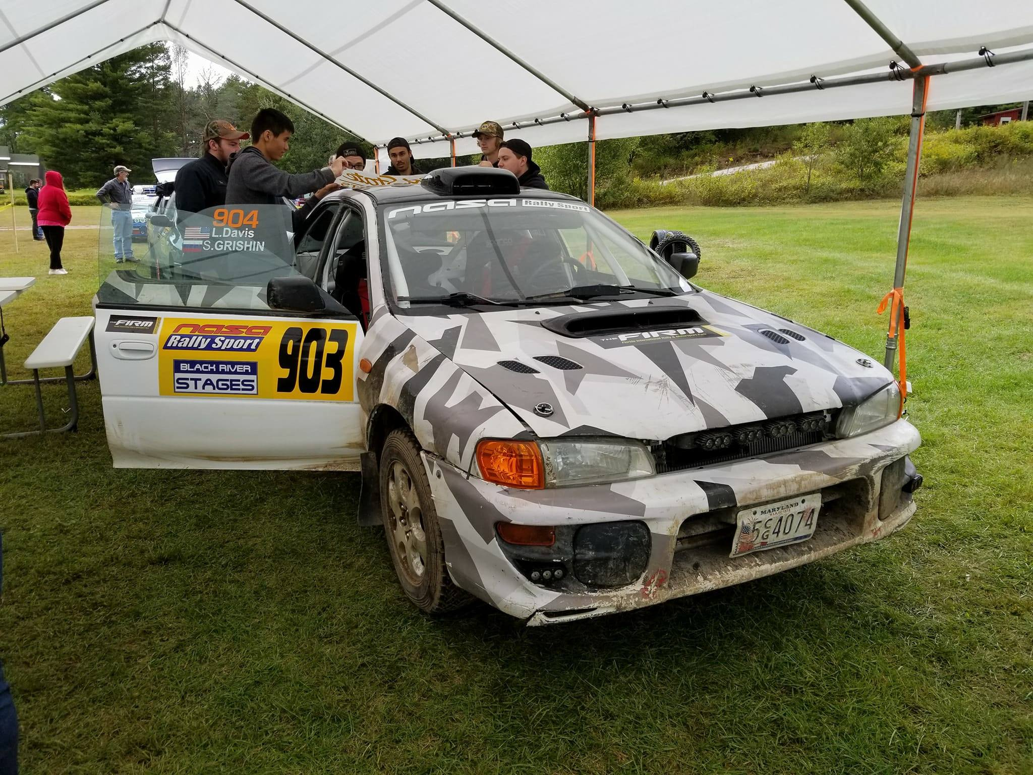Rally Car at Tech Inspection